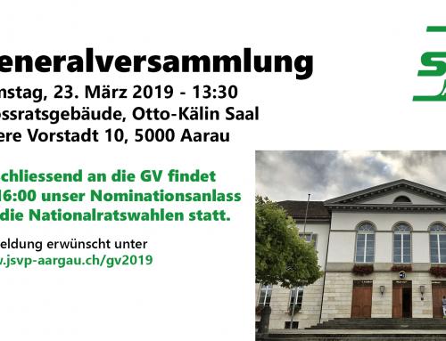 Einladung zur Generalversammlung – 23.03.2019
