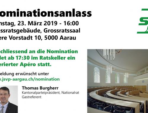 Einladung zum Nominationsanlass