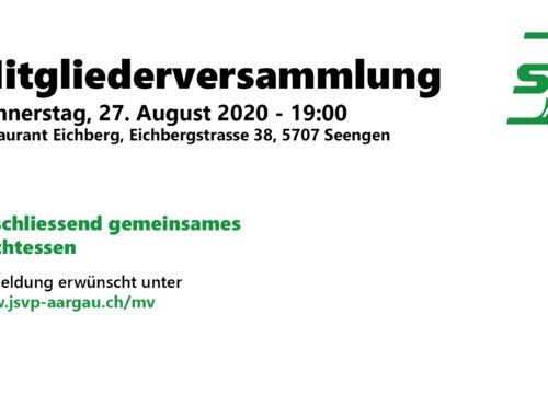 Einladung zur Mitgliederversammlung – 27.08.2020